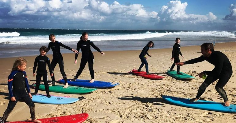 Initiation au bodyboard, surf ou stand-up paddle