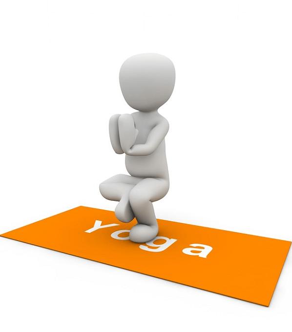 Posture yoga, s'ancrer