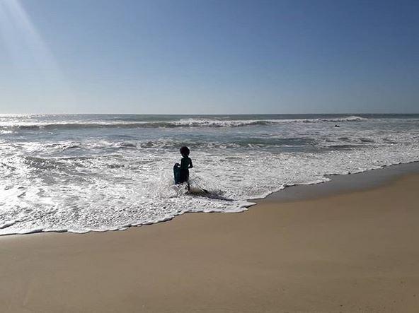 plage avec les enfants sur le bassin d'arcachon